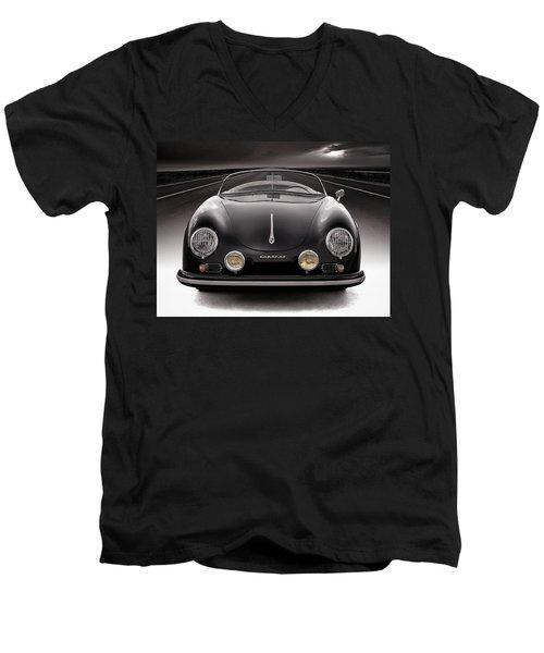 Black Speedster Men's V-Neck T-Shirt