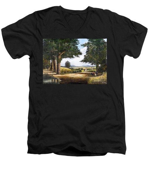 Bromyard Downs Men's V-Neck T-Shirt