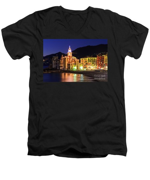 Camogli At Evening Men's V-Neck T-Shirt