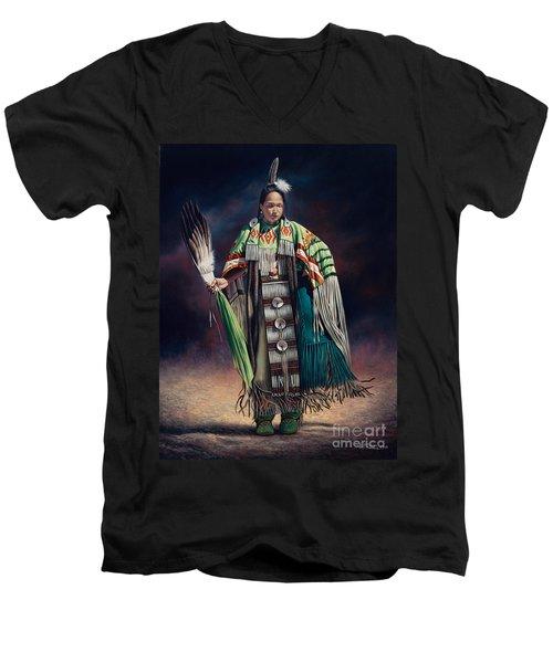 Ceremonial Rhythm Men's V-Neck T-Shirt
