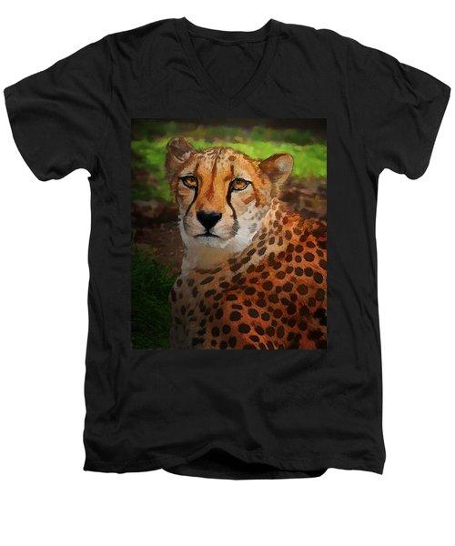 Cheetah Mama Men's V-Neck T-Shirt