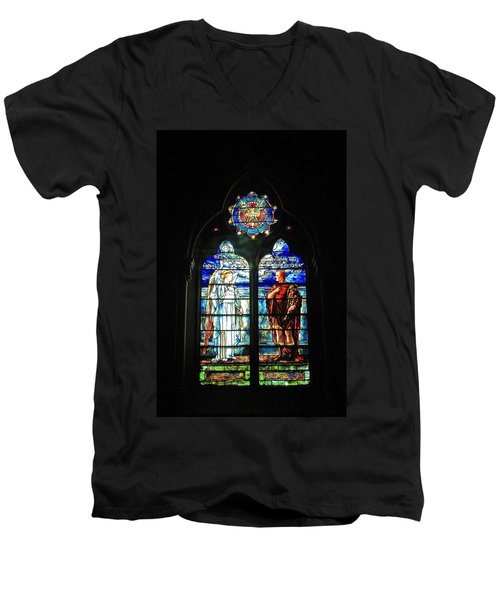 Church Of The Covenant Stained Glass 11 Men's V-Neck T-Shirt