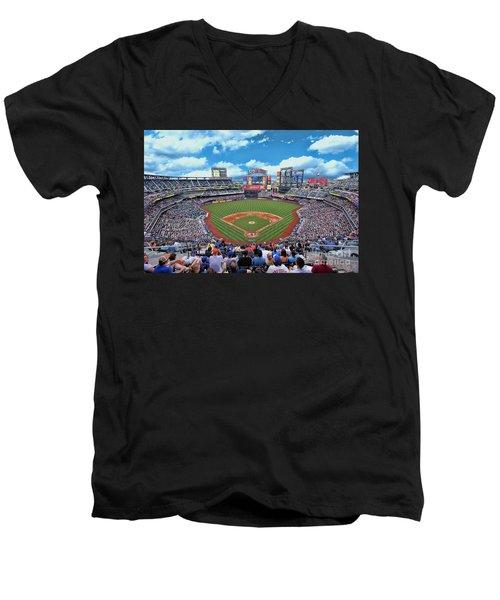 Citi Field 2 - Home Of The N Y Mets Men's V-Neck T-Shirt