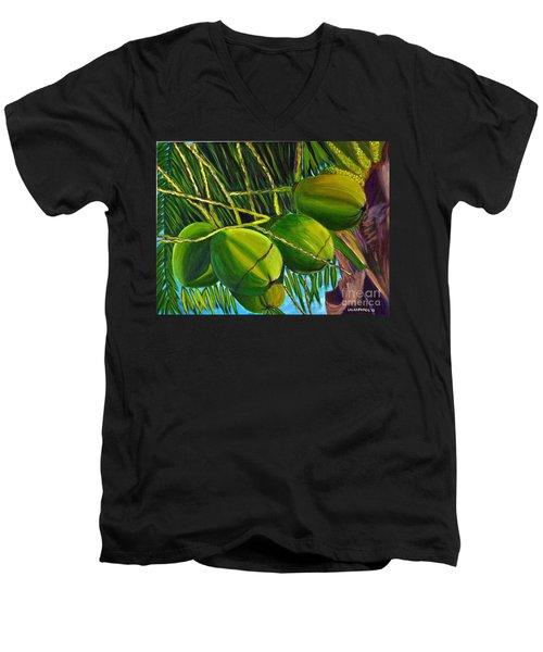 Coconuts At Sunset Men's V-Neck T-Shirt