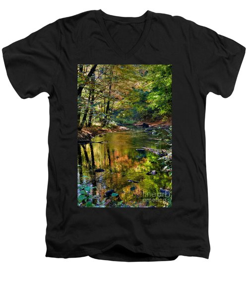 Men's V-Neck T-Shirt featuring the photograph Color Creek by Robert Pearson