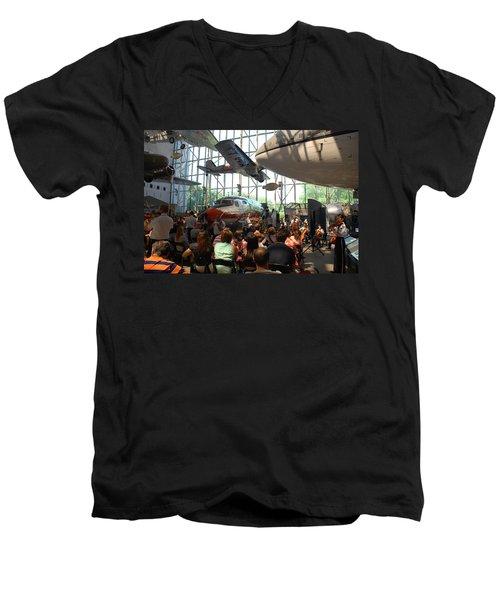 Concert Under The Planes Men's V-Neck T-Shirt