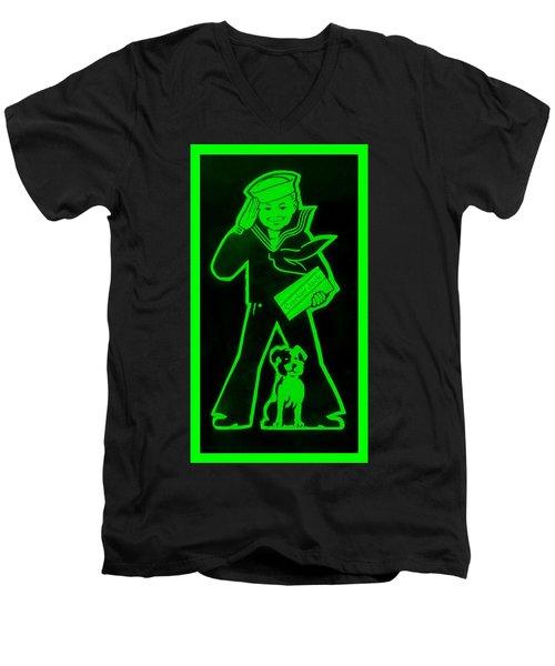 Crackerjack Green Men's V-Neck T-Shirt