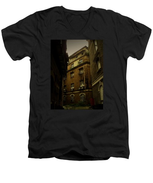 Men's V-Neck T-Shirt featuring the photograph Crime Alley by Salman Ravish
