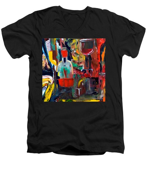 Cut IIi Wine Woman And Music Men's V-Neck T-Shirt