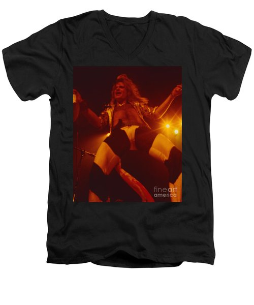 David Lee Roth - Van Halen At The Oakland Coliseum 12-2-1978 Rare Unreleased Men's V-Neck T-Shirt