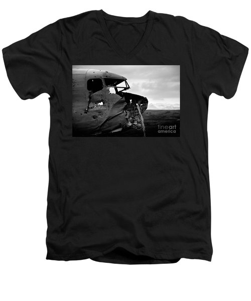 Men's V-Neck T-Shirt featuring the photograph Dc 3 Iceland by Gunnar Orn Arnason