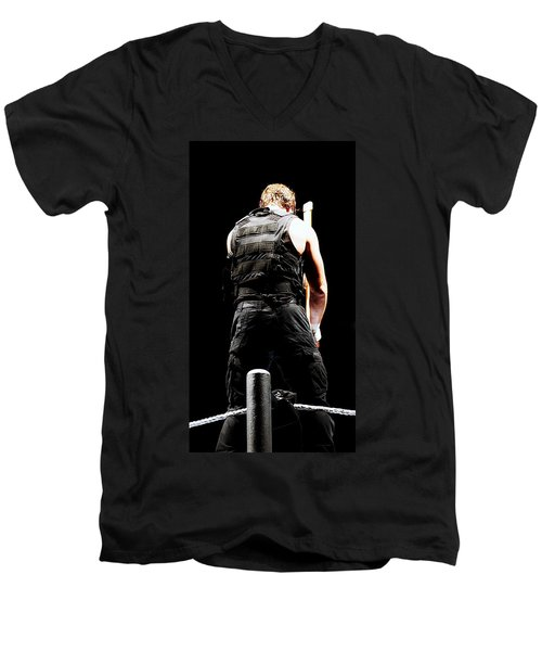 Dean Ambrose Men's V-Neck T-Shirt by Paul  Wilford
