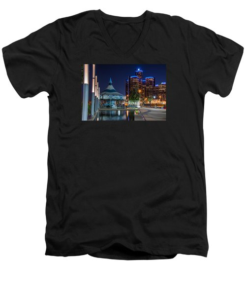 Detroit Riverwalk  Men's V-Neck T-Shirt