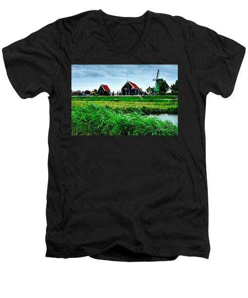 Men's V-Neck T-Shirt featuring the photograph Dutch Village by Joe  Ng