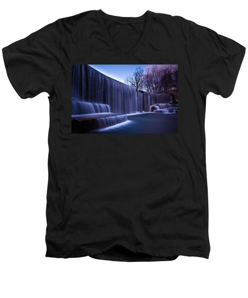Men's V-Neck T-Shirt featuring the photograph Falling Water by Mihai Andritoiu