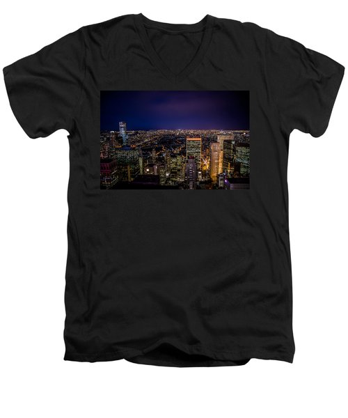 Field Of Lights And Magic Men's V-Neck T-Shirt