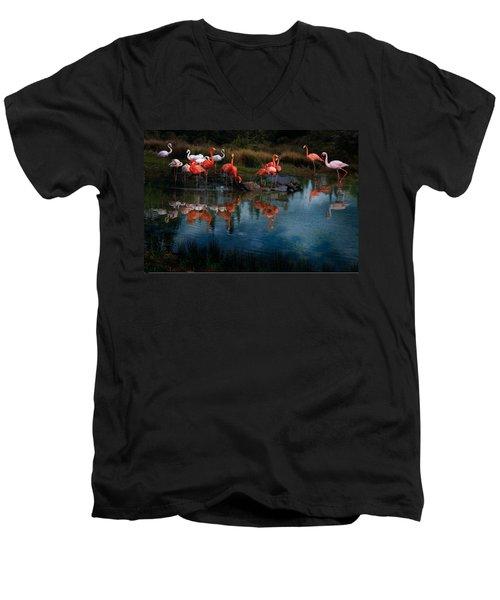 Flamingo Convention Men's V-Neck T-Shirt