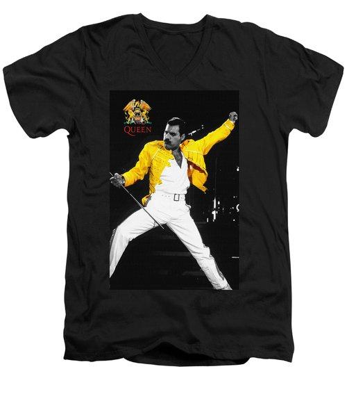 Freddie Mercury Live In Wembley1986    Men's V-Neck T-Shirt