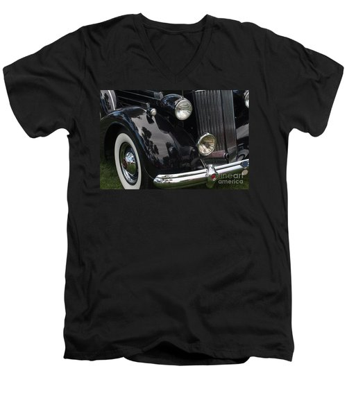 Men's V-Neck T-Shirt featuring the photograph Front Side Of A Classic Car by Gunter Nezhoda
