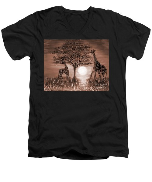 Giraffes Men's V-Neck T-Shirt