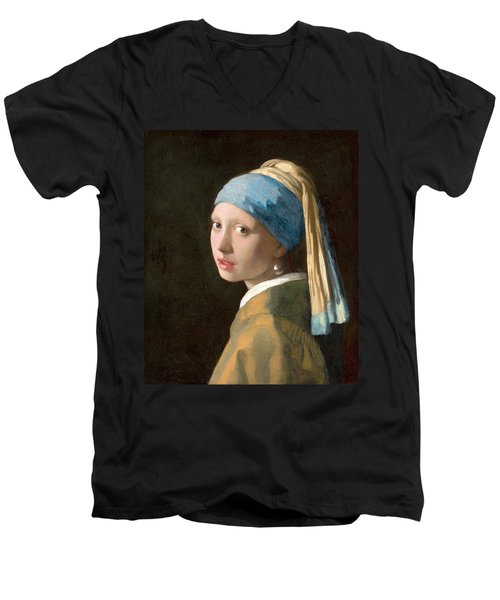 Girl With A Pearl Earring Men's V-Neck T-Shirt