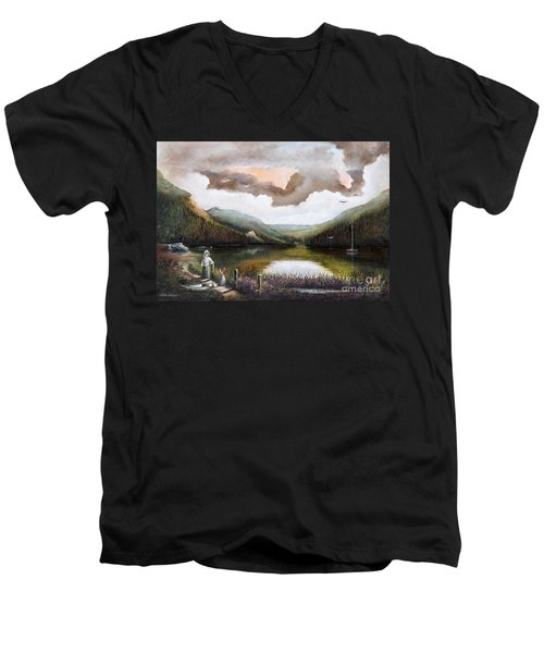 Glendalough Men's V-Neck T-Shirt