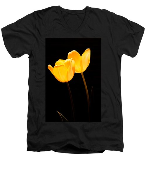 Glowing Tulips II Men's V-Neck T-Shirt