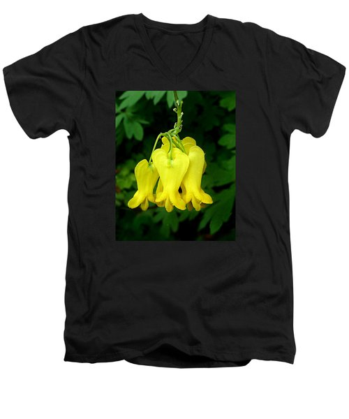 Golden Tears Vine Men's V-Neck T-Shirt by William Tanneberger
