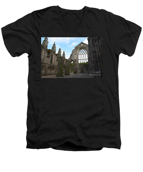 Holyrood Abbey Ruins Men's V-Neck T-Shirt