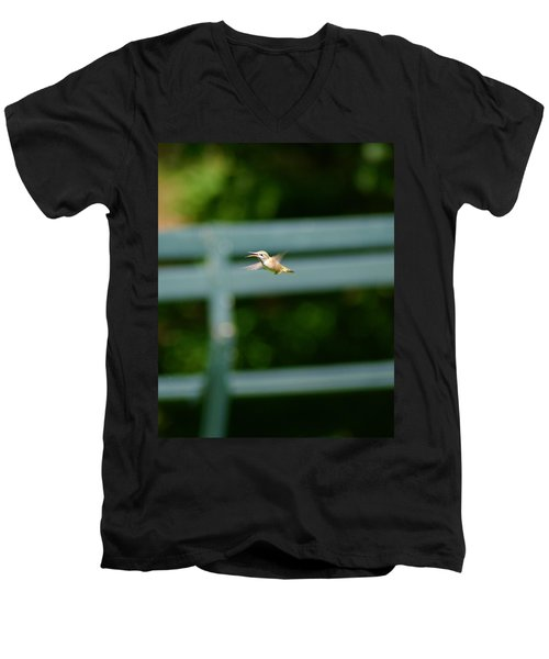 Hummer In Flight Men's V-Neck T-Shirt