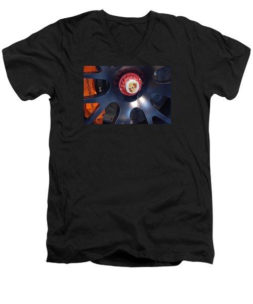 Hybrid Wheel  Men's V-Neck T-Shirt by John Schneider