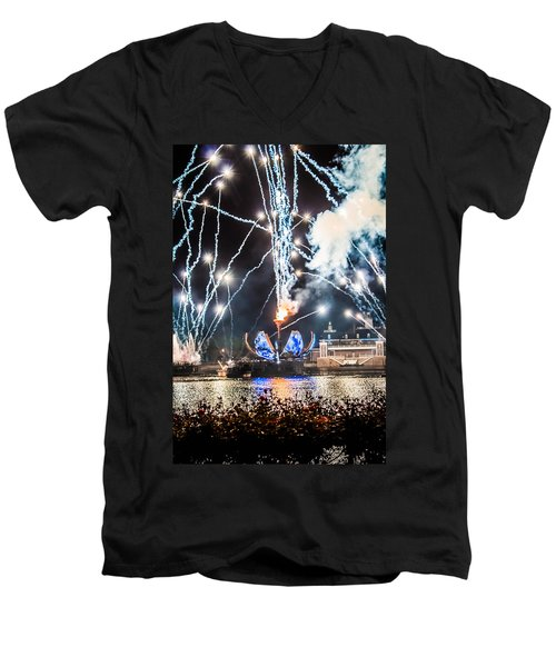 Illuminations Men's V-Neck T-Shirt by Sara Frank