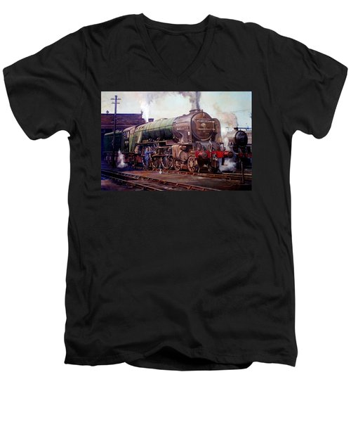 Kenilworth On Shed. Men's V-Neck T-Shirt by Mike  Jeffries
