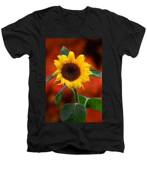 Last Sunflower Men's V-Neck T-Shirt