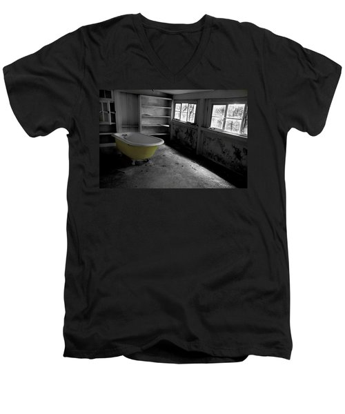 Left Behind Men's V-Neck T-Shirt by Michael Eingle
