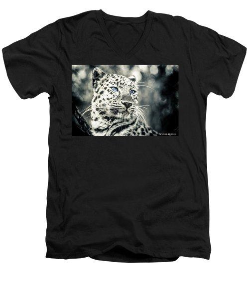 Men's V-Neck T-Shirt featuring the photograph Love Panther by Stwayne Keubrick