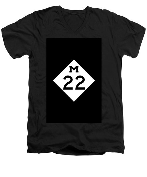 M 22 Men's V-Neck T-Shirt