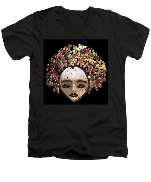 Medusa Bedazzled After Men's V-Neck T-Shirt