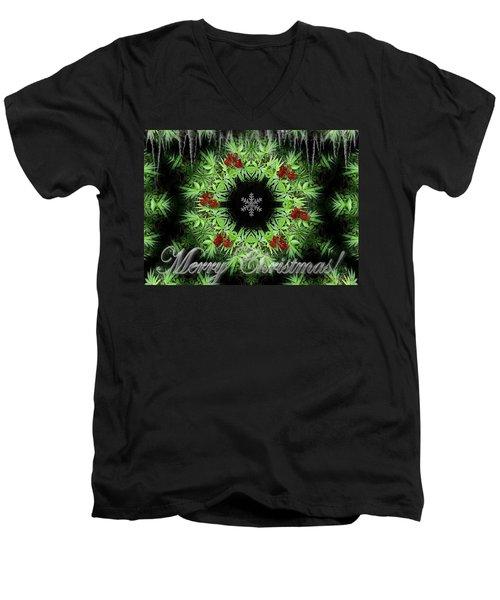 Merry Christmas Men's V-Neck T-Shirt by Robert Orinski