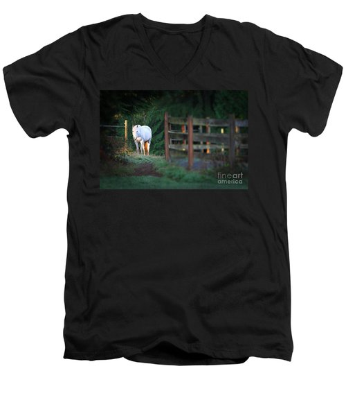 Self Assurance Men's V-Neck T-Shirt by Michelle Twohig
