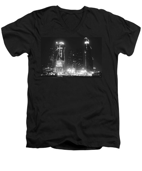 Moscow At Night  Men's V-Neck T-Shirt