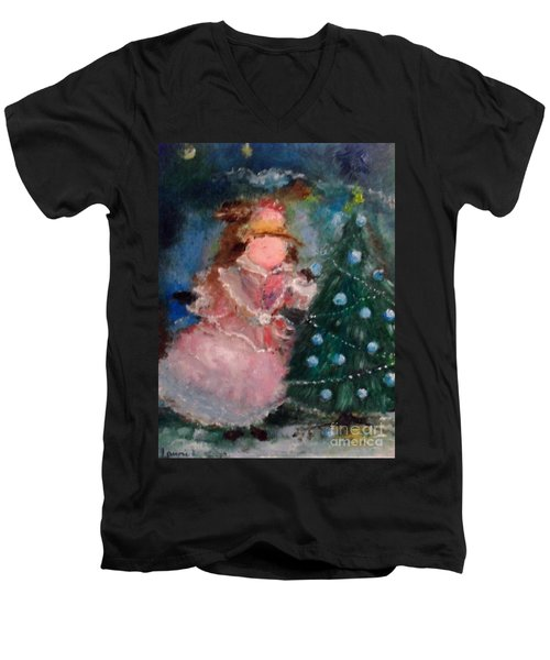 Mother Christmas Men's V-Neck T-Shirt by Laurie L