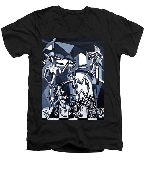 My Inner Demons Men's V-Neck T-Shirt by Ryan Demaree