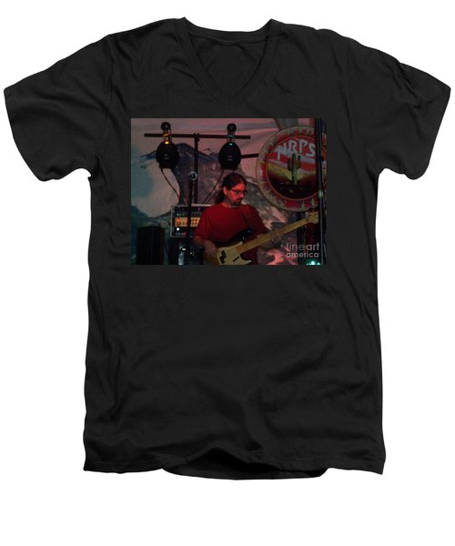Men's V-Neck T-Shirt featuring the photograph New Riders Of The Purple Sage by Kelly Awad