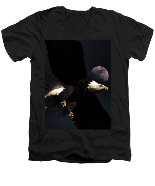 Night Moves Men's V-Neck T-Shirt by John Freidenberg