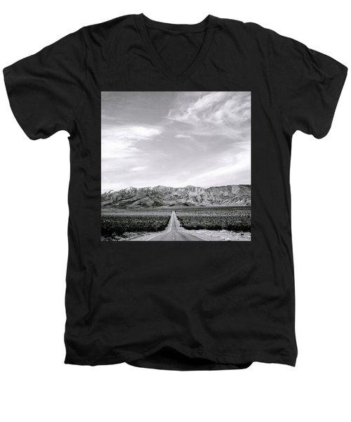 On The Road Men's V-Neck T-Shirt by Shaun Higson