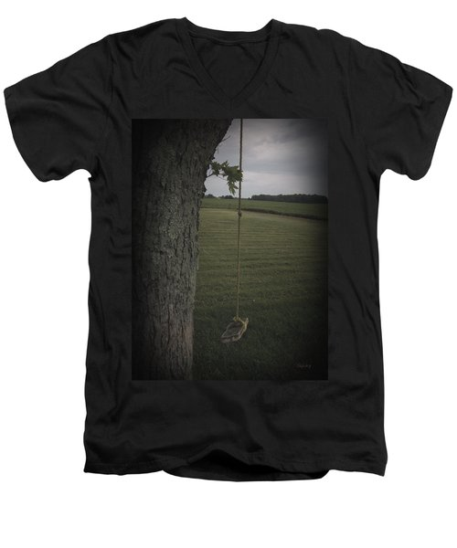 Men's V-Neck T-Shirt featuring the photograph Once Upon A Time by Cynthia Lassiter