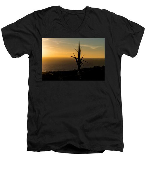 One At Sunset Men's V-Neck T-Shirt