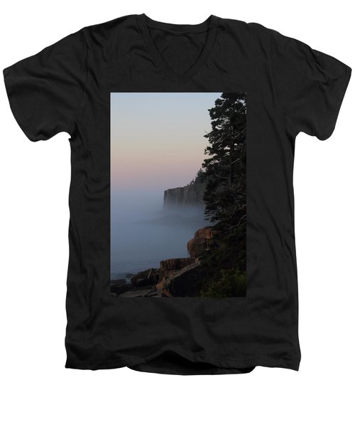 Otter Cliffs 2 Men's V-Neck T-Shirt