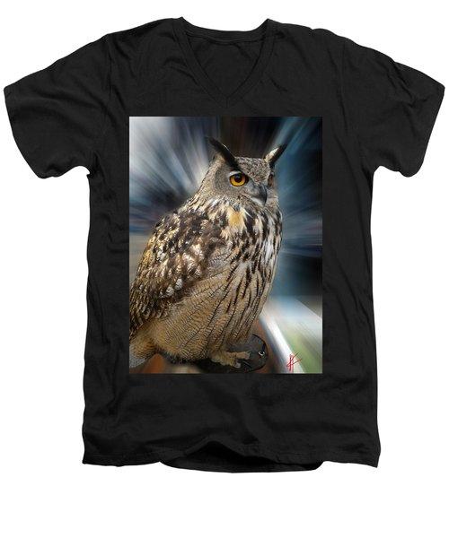 Owl Alba Spain  Men's V-Neck T-Shirt
